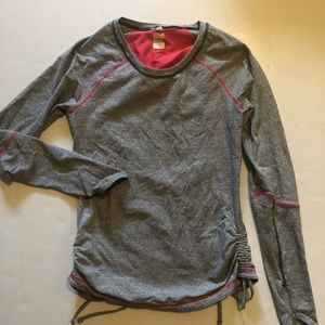 Lucy Gray Stripe Warm Up/Cool Down Pull Over Shirt